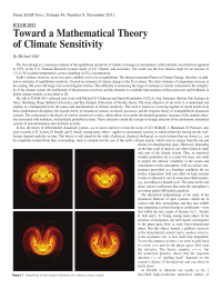Toward a Mathematical Theory of Climate Sensitivity