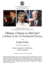 Obama, Clinton or McCain? A Debate on the US Presidential Election