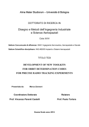 development of new toolkits for orbit determination codes for precise
