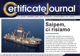 Saipem, ci risiamo - Certificate Journal
