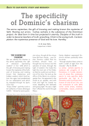 The specificity of Dominic`s charism