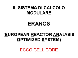 Cross section calculations ECCO (European Cell COde)