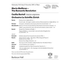 the Cecilia Bartoli programme here [pdf format] - classical