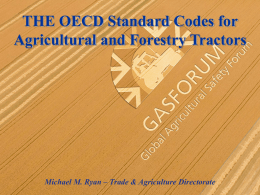 THE OECD Standard Codes for Agricultural and Forestry