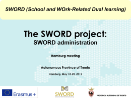 SWORD administration - Sword Project