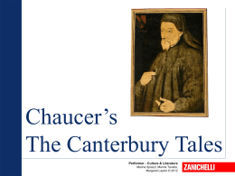 Chaucer`s The Canterbury Tales