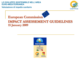 European Commission IMPACT ASSESSEMENT GUIDELINES 15