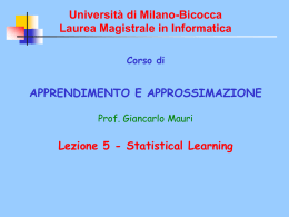 Università di Milano-Bicocca Laura Magistrale in Informatica
