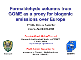 Formaldehyde columns over Europe as a proxy for biogenic emissions