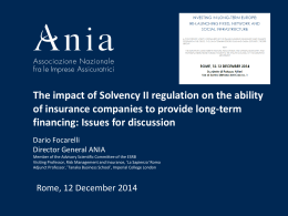 A Market Consistent Approach for Solvency II