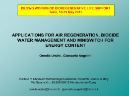 applications for air regeneration, biocide water