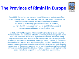 The Province of Rimini in Europe