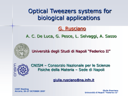 Some biological applications of optical tweezers based on