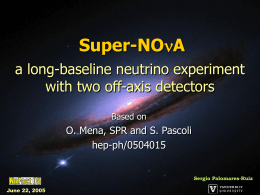 a long-baseline neutrino experiment with two off