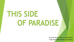 This side of paradise - marilenabeltramini.it