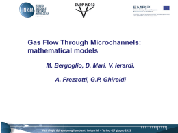 Mathematical models through micro channels