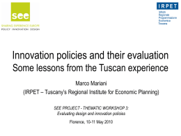 Innovation policies and their evaluations