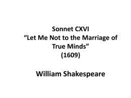 Let Me Not to the Marriage of True Minds