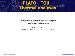 Some considerations - Osservatorio Astrofisico di Catania