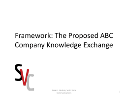 Proposed ABC Company Knowledge Exchange