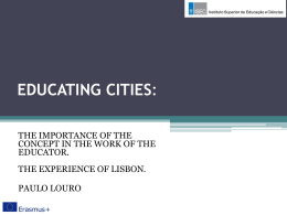 educating cities - Sandra Chistolini