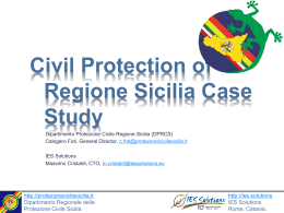 Civil Protection of Regione Sicilia Case Study