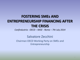 OECD * MiSE - Roma * 7th July 2014