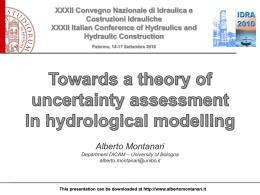 Uncertainty Estimation in Hydrological Modelling