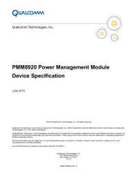 PMM8920 Power Management Module Device Specification