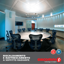 Sistema radiante a soffitto