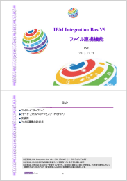 IBM Integration Bus V9 ファイル連携機能 ISE 2013.12.28