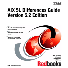 AIX 5L Differences Guide Version 5.2 Edition Front cover