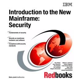 Introduction to the New Mainframe: Security Front cover