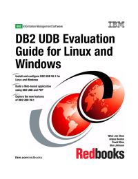DB2 UDB Evaluation Guide for Linux and Windows Front cover