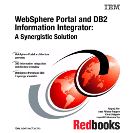 WebSphere Portal and DB2 Information Integrator: A Synergistic Solution Front cover