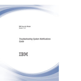 Troubleshooting System Notifications Guide IBM Security QRadar