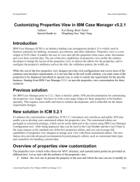 Customizing Properties View in IBM Case Manager v5.2.1 Introduction