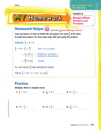Homework Helper _ Lesson 4 Multiply Whole