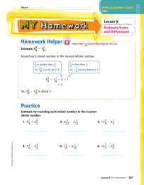 Homework Helper Practice _ Lesson 9