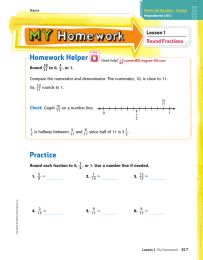 Homework Helper Lesson 1 Round Fractions Check