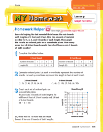 Homework Helper Lesson 9 Graph Patterns