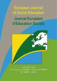 European Journal of Social Education Journal Européen d'Education Sociale