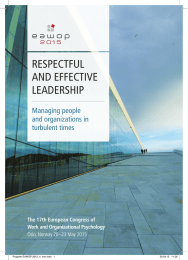 RESPECTFUL AND EFFECTIVE LEADERSHIP