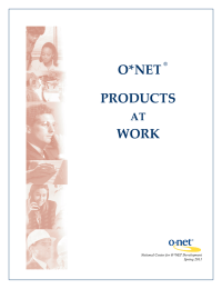 O*NET PRODUCTS  WORK