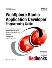 WebSphere Studio Application Developer Programming Guide Front cover