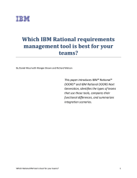 Which IBM Rational requirements management tool is best for your teams?