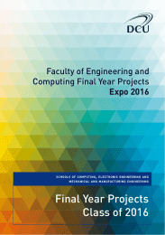 Final Year Projects Class of 2016 Faculty of Engineering and