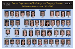 Emory Department of Radiology and Imaging Sciences  Fellows and Instructors 2016-2017