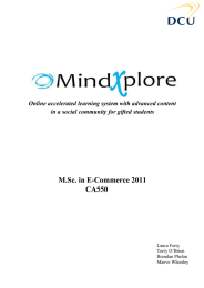M.Sc. in E-Commerce 2011 CA550  Online accelerated learning system with advanced content