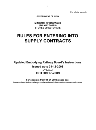 RULES FOR ENTERING INTO SUPPLY CONTRACTS OCTOBER-2009